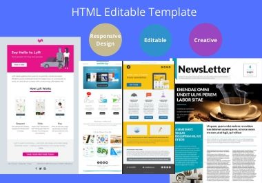 I will create highly responsive HTML Email Template or Newsletter