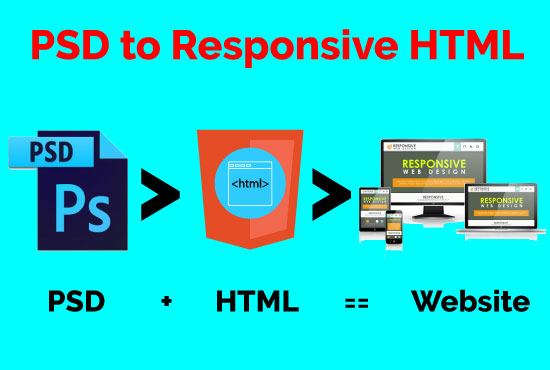 I will create psd to responsive html landing page