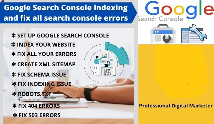 I will Do Google Search Console indexing and fix all search console errors
