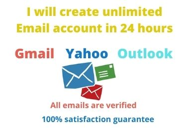 I will create unlimited Email account in 24 hours