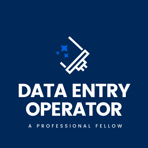 DATA-ENTRY OPERATOR with high level of efficiency and accuracy for you.