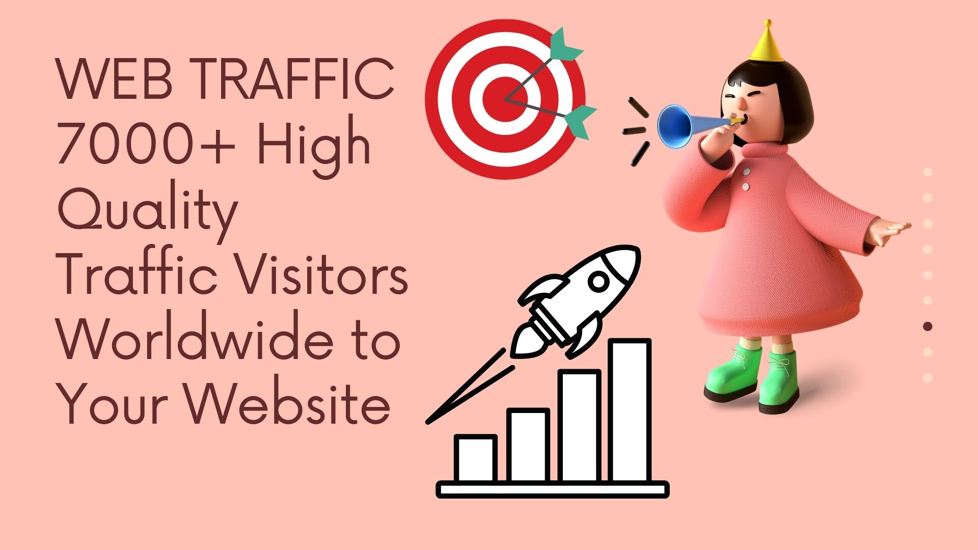WEB TRAFFIC 7000+ High Quality Traffic Visitors Worldwide to Your Website