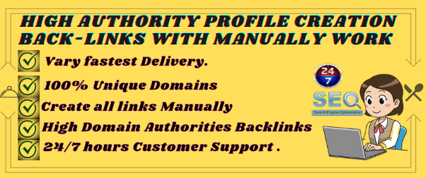 Manually 150 Profile Creation Backlinks With High Quality