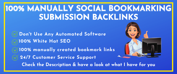 Manually 25+ Social Bookmarking Submission with High-Quality Backlinks