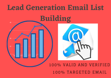 I will do targeted b2blead generation email list building