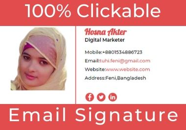 I will do responsive clickable HTML email signature