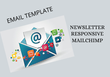 I will Design responsive mail chimp email template and Newsletter template for your business