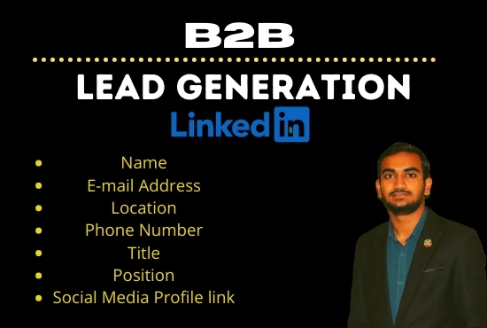 I will do B2B business lead generation