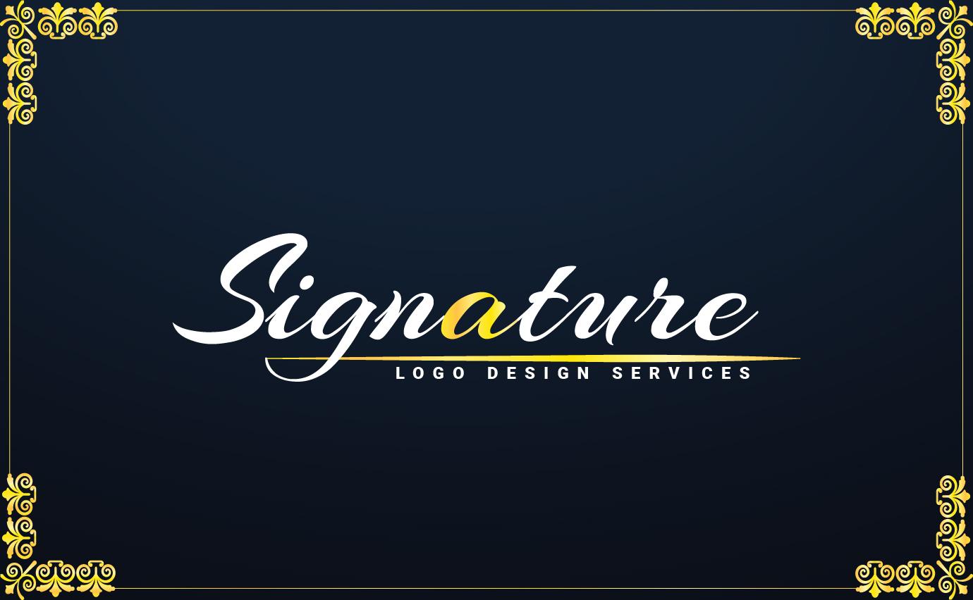 I will design handwritten signature logo design within 1hrs
