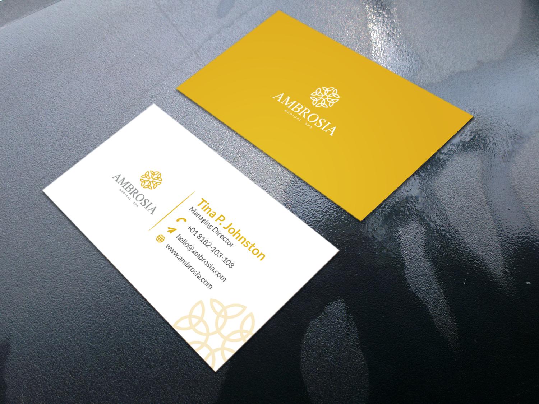 I will create minimal business card design, luxury business card design just $1