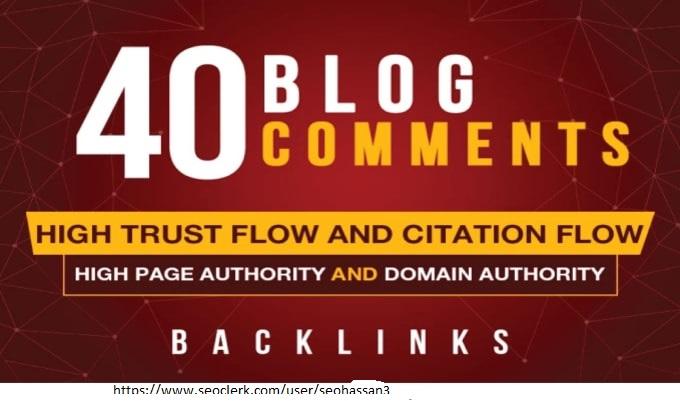 I will do 40 blog comments backlinks