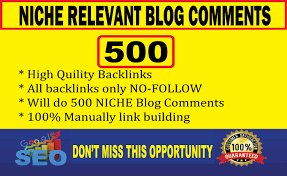 I will do 500 niche relevant blog comments