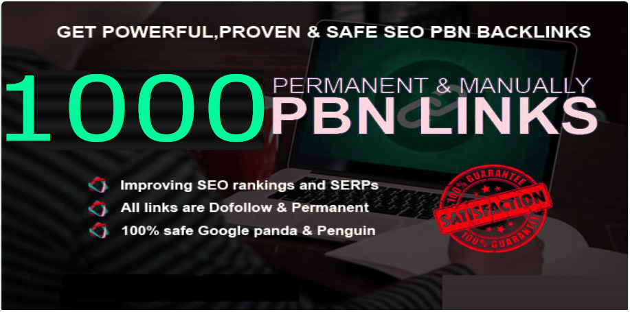 Construct 1000+PBN Backlink in your site homepage with HIGH DA/PA/TF/CF with remarkable sites