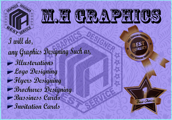 I will do any Graphics Designing, Logo design
