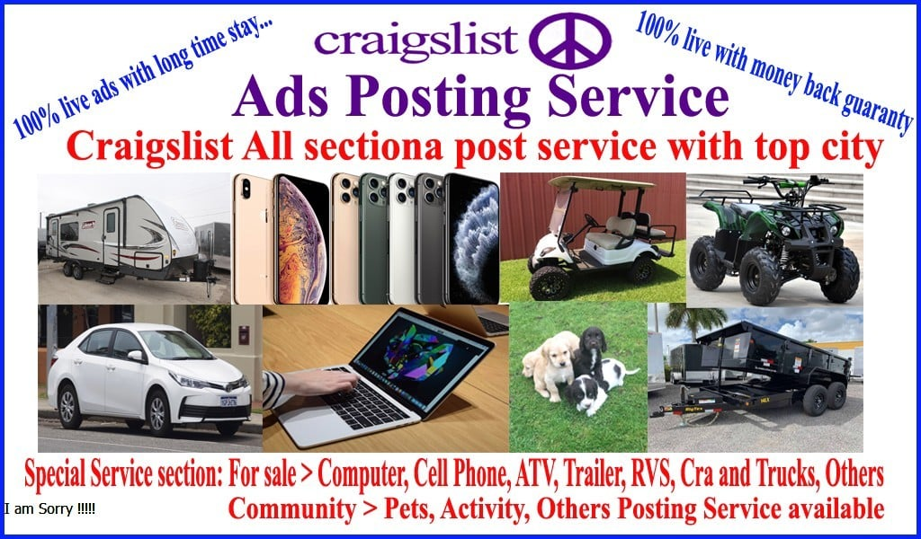 I will do your craigslist pets ads posting USA all sites