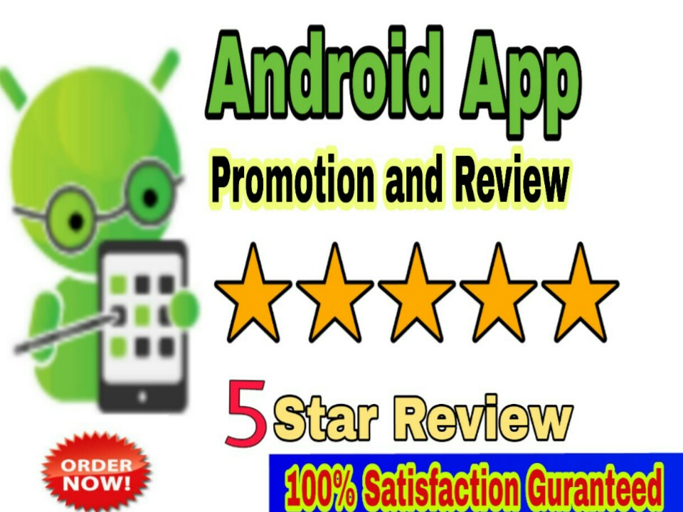 I will do promotion your android app