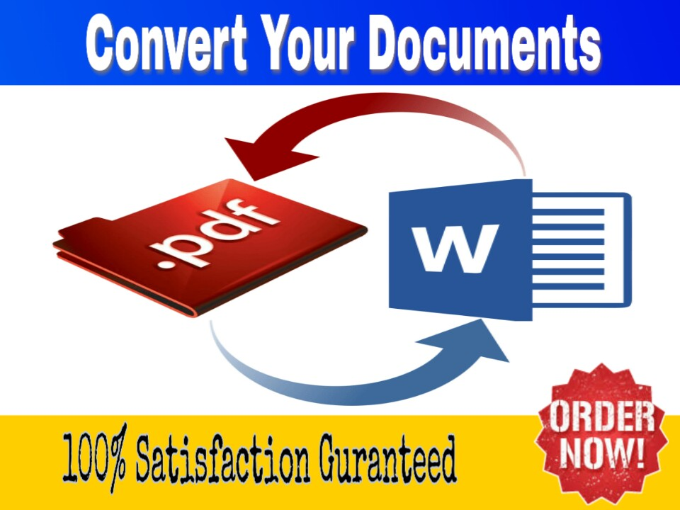 I will convert your documents 24 hours