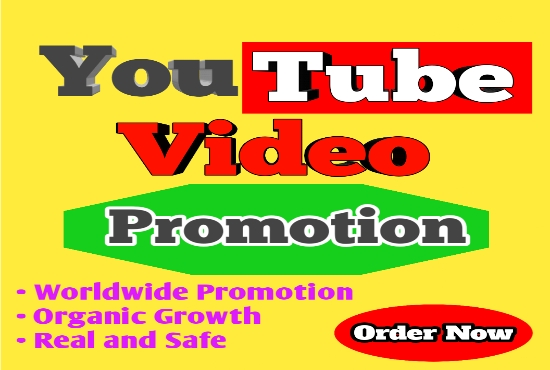 YouTube Video Promotion Real and Safe Organic Growth