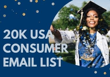 I will deliver USA 2020 verified consumers emails
