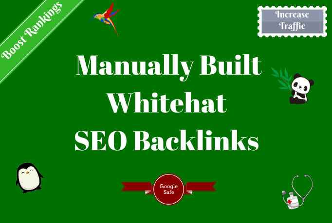 I will do SEO backlink building On high authority Sites