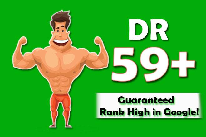 increase domain rating DR ahrefs to 59 plus