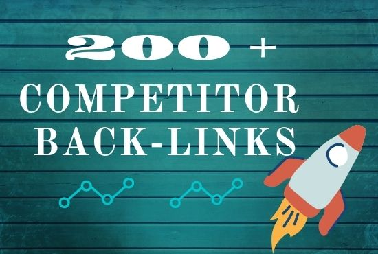 I will create 200 plus competitor back link use ahrefs tool