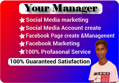 I will to be your social media director to manage your business.