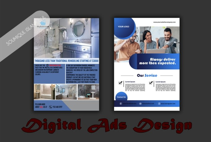 I will design your digital advert, business flyer or magazine ad.