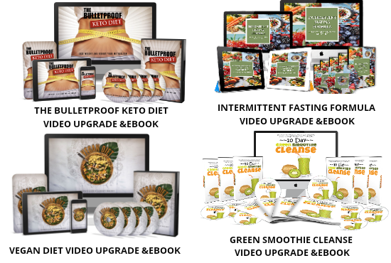i will give 7 healthy diet video upgrades and ebooks with MRR