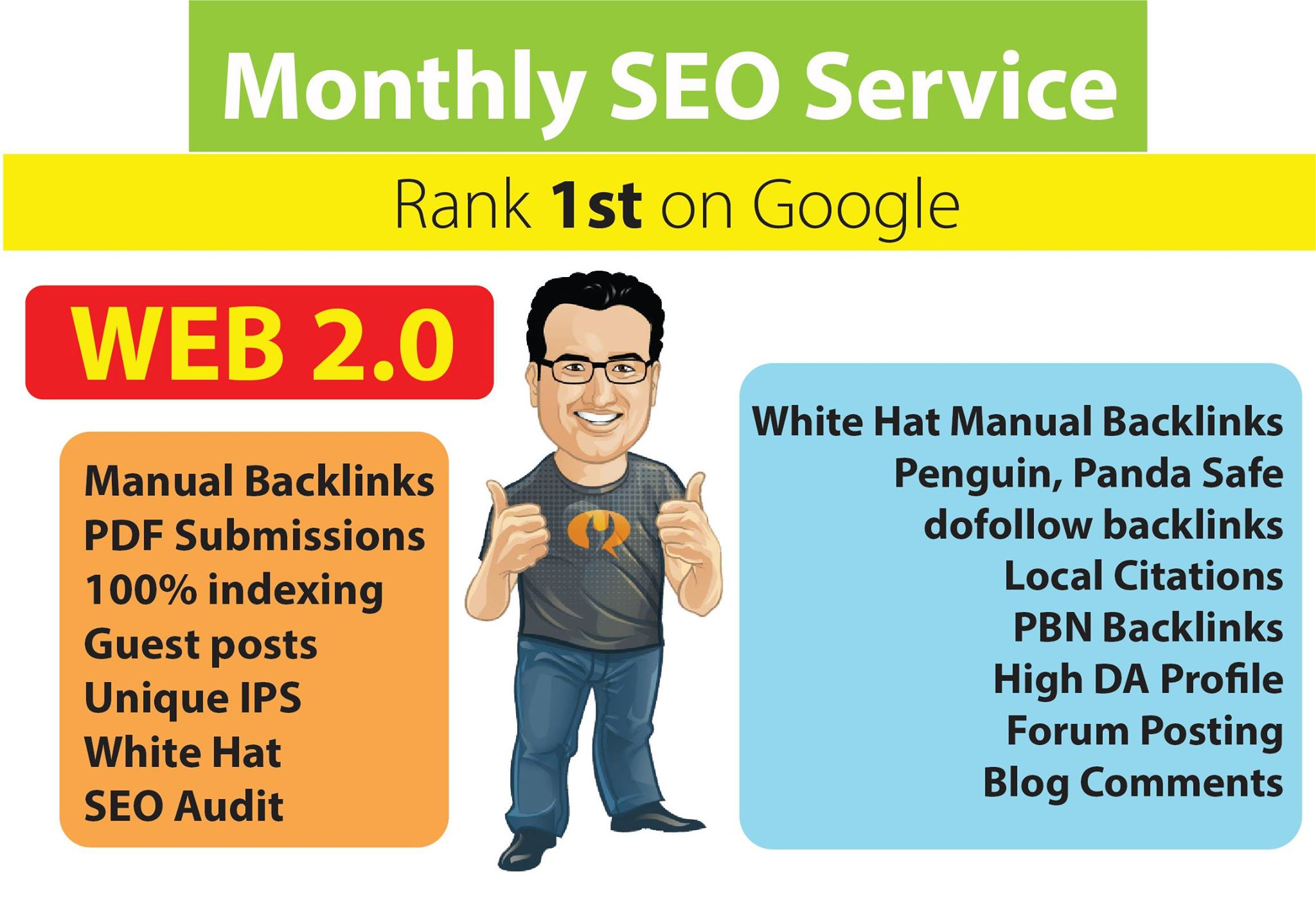 Complete Monthly OFF PAGE SEO Service with High Authority Backlinks
