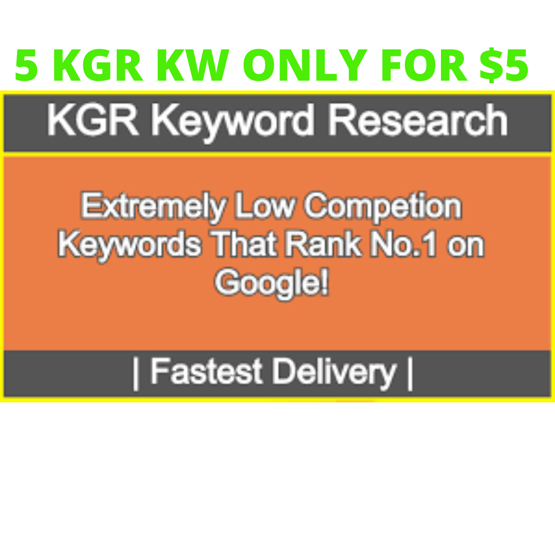 KGR Keyword for Super Fast Ranking in SERP sometimes within 24hr