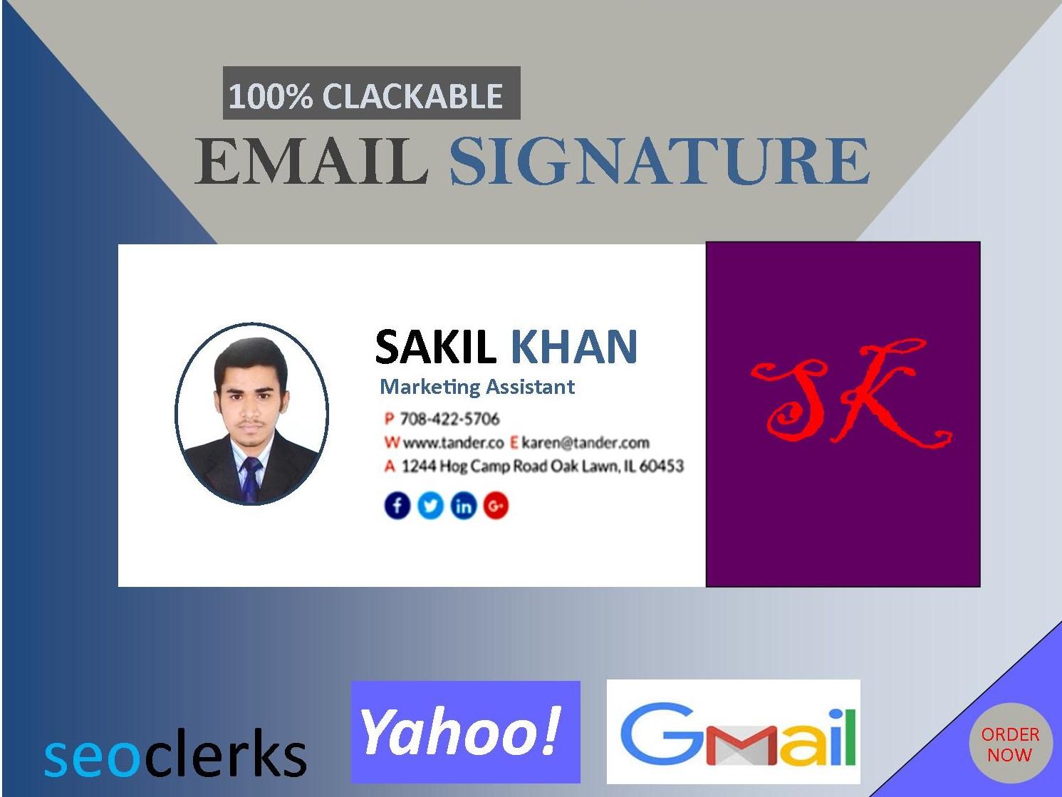 Create a Beautiful Professional Email Signature