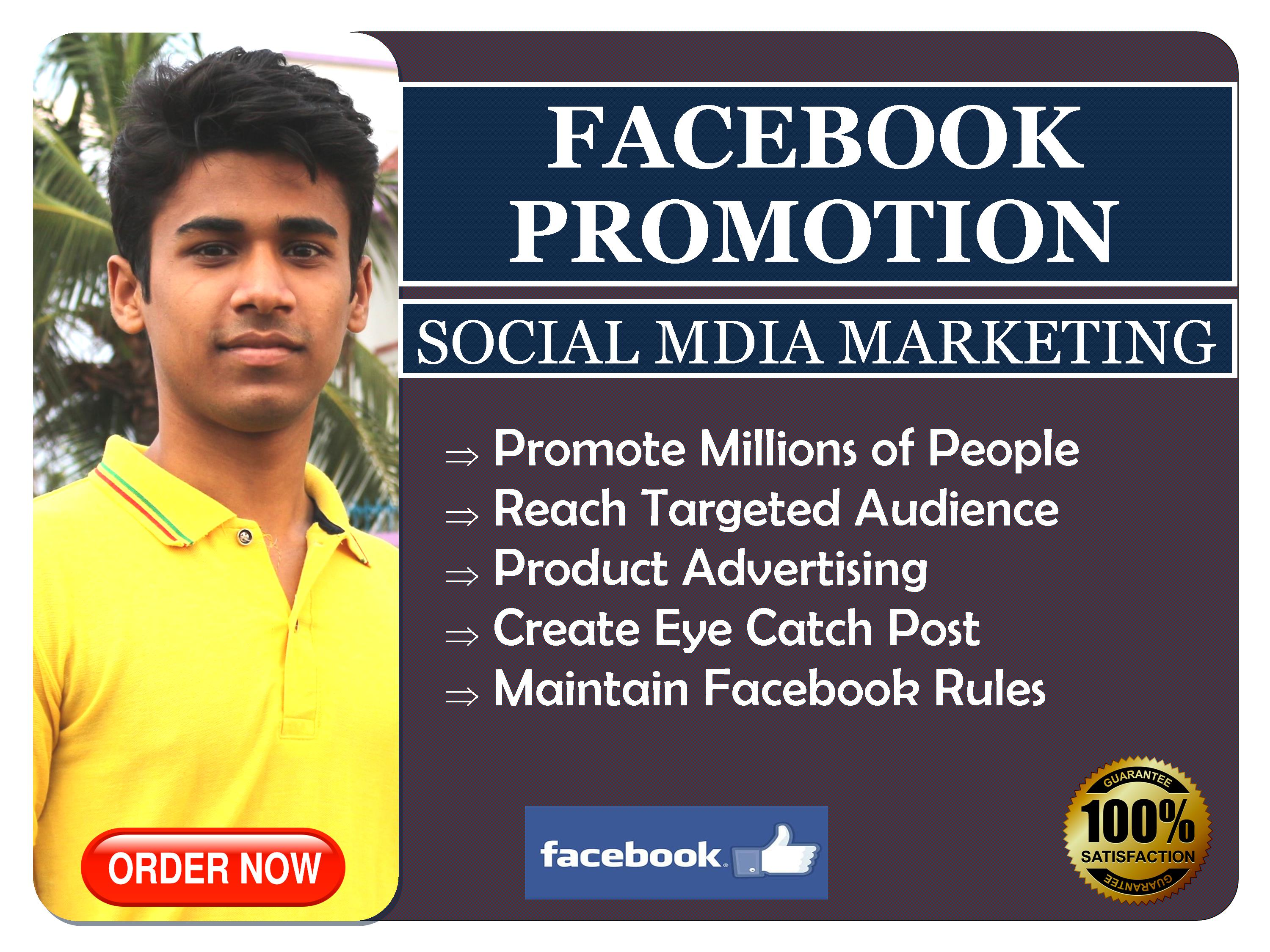 I will do Facebook Promotion for any Business in USA