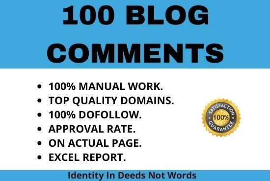 I will create 100 niche topical blog comments.