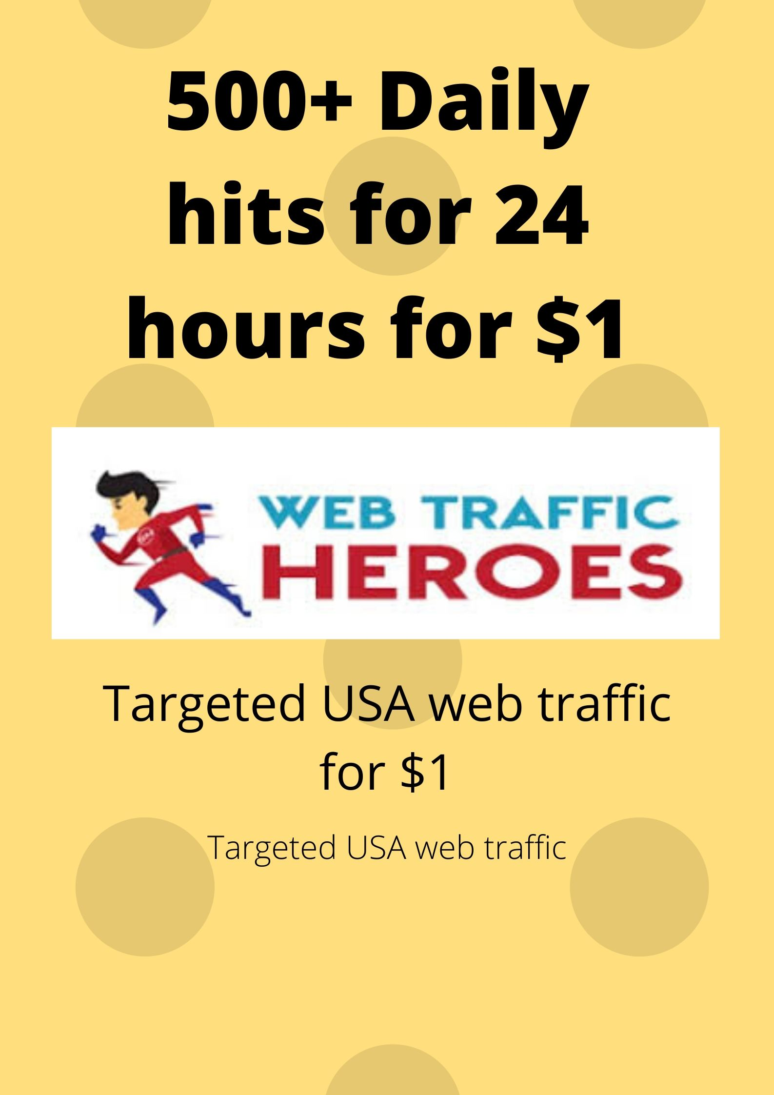 I will bring real visitors, targeted web traffic-web hero