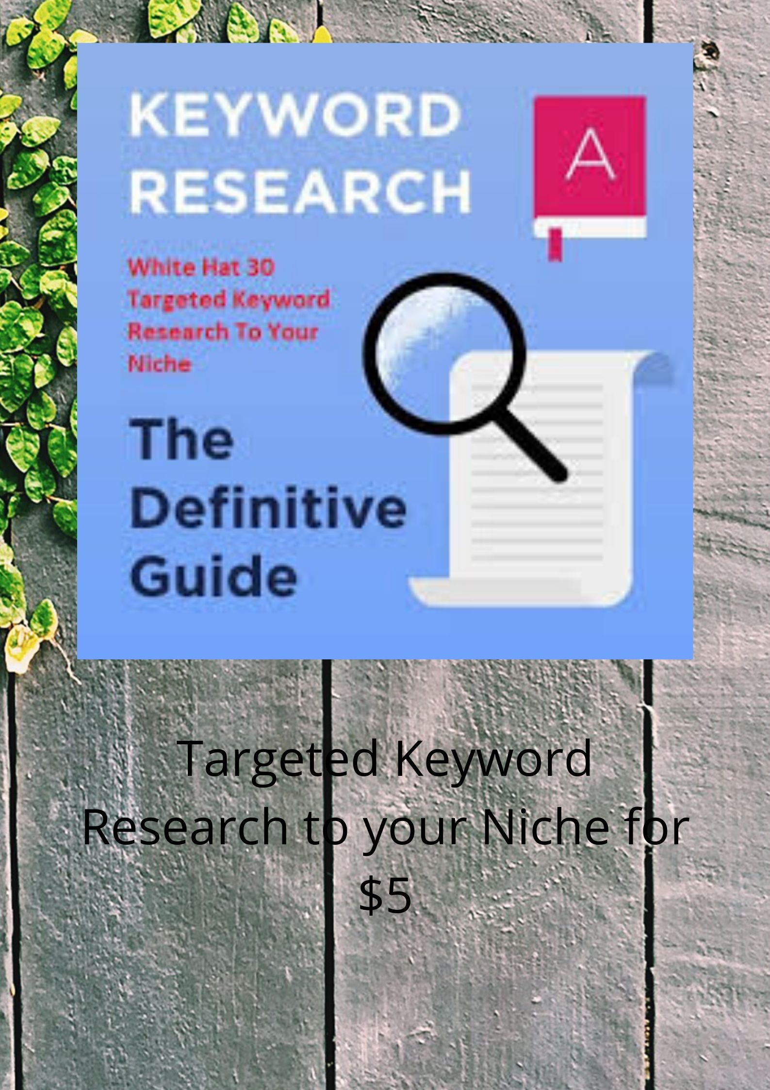 Competitive Keyword Research to your niche