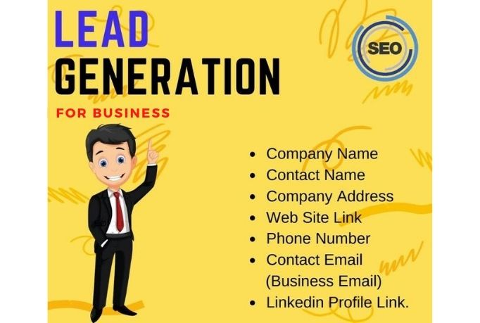 I will do business b2b lead generation and find the email,  phone number,  linkedin profile