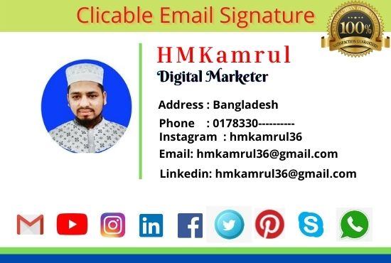 I will do Best Quality HTML Professional Email Signature