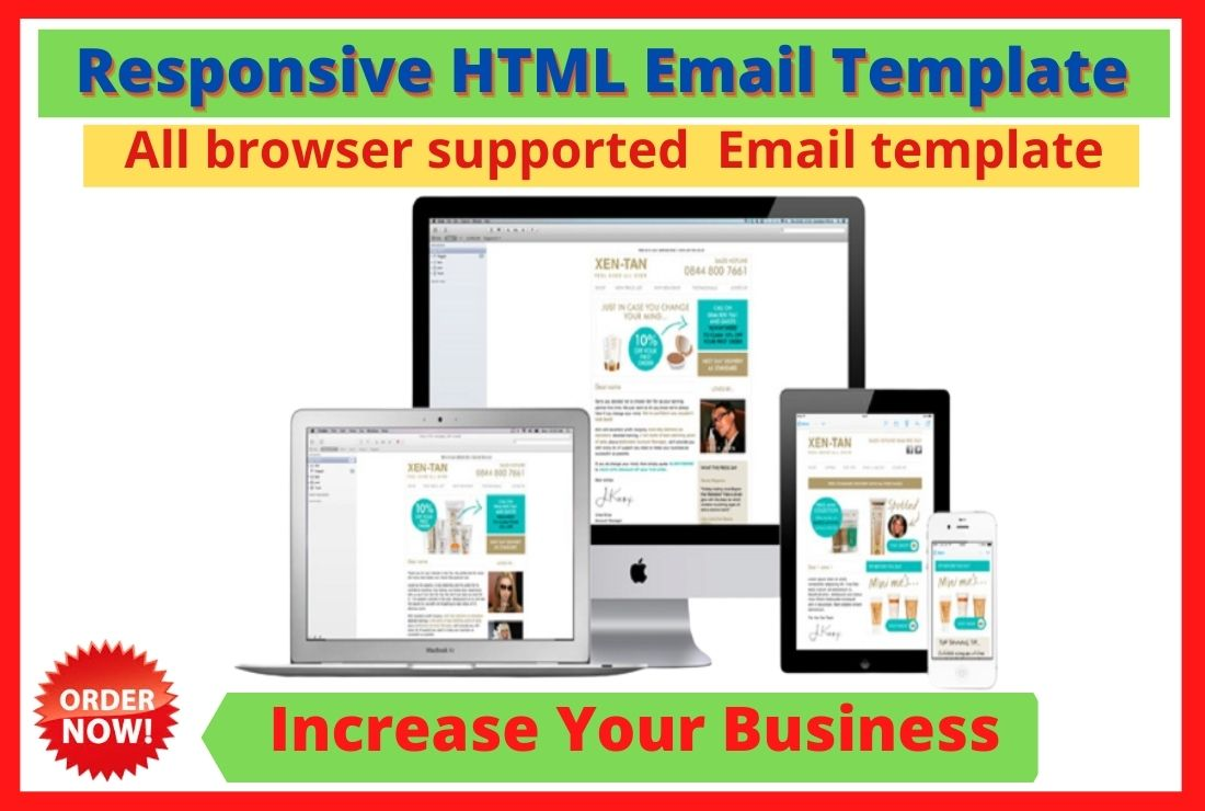 I will design Email Template,  responsive HTML Email Template or Newsletter