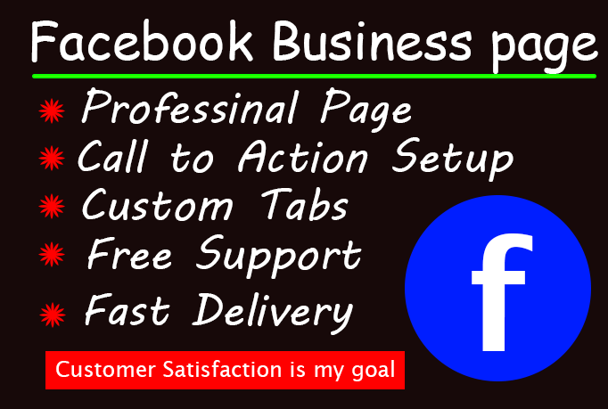 I will design and create Facebook business page