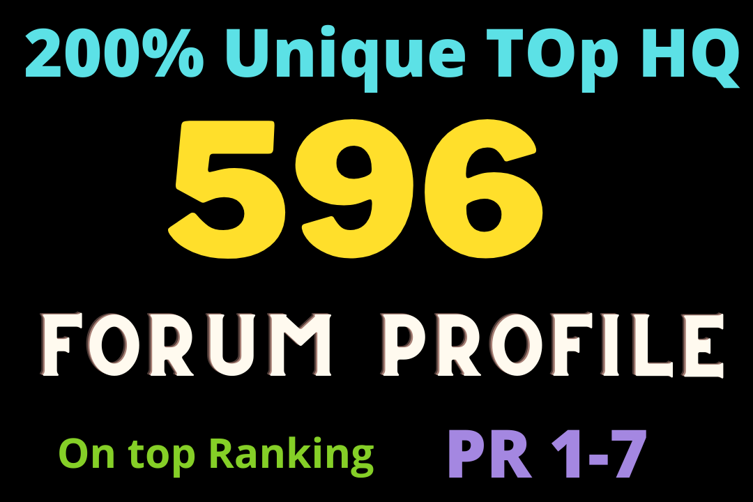 Google ranking top 596 forum profile strong DA backlinks Boost Faster site
