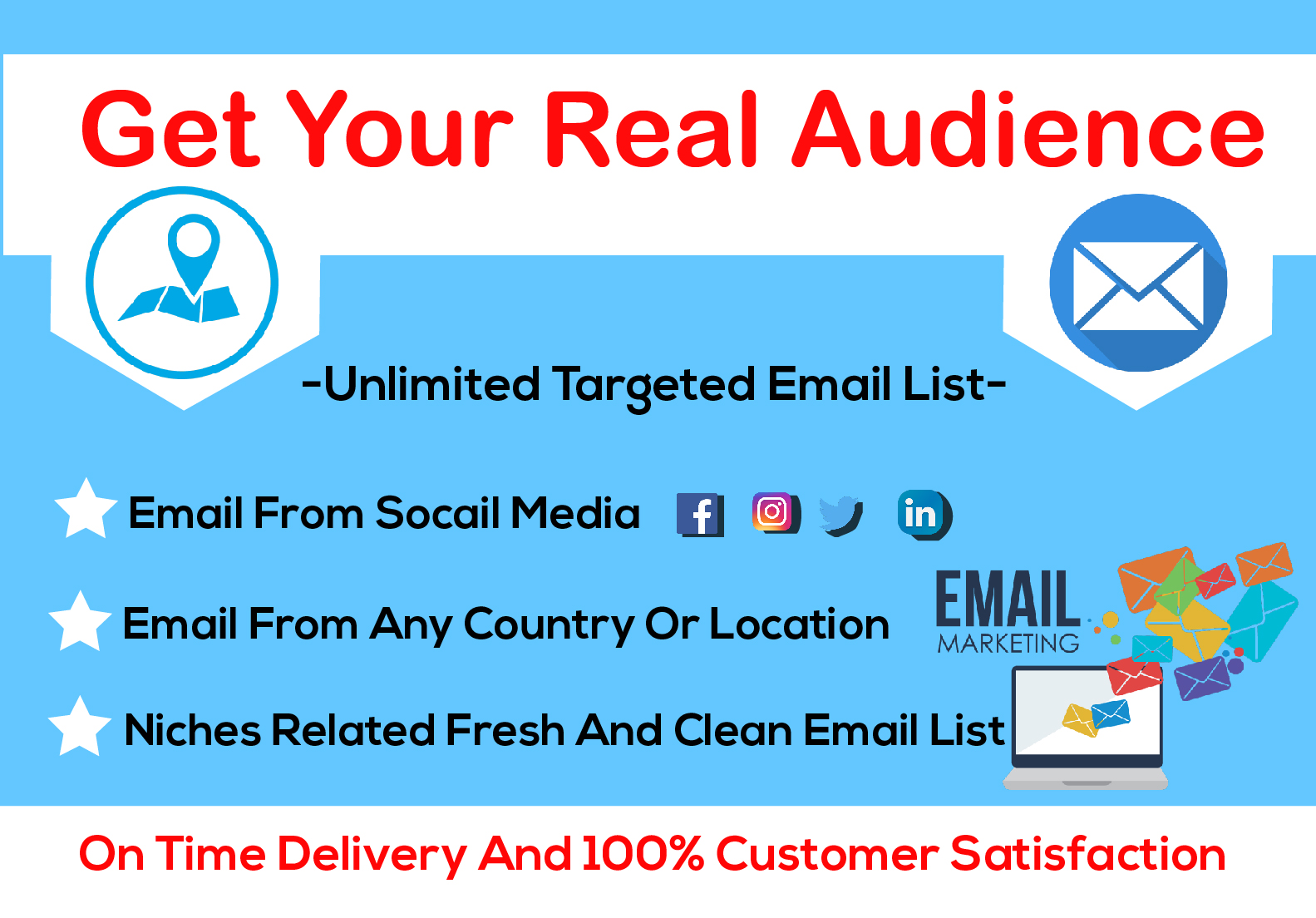 I will build niche and country specified email list