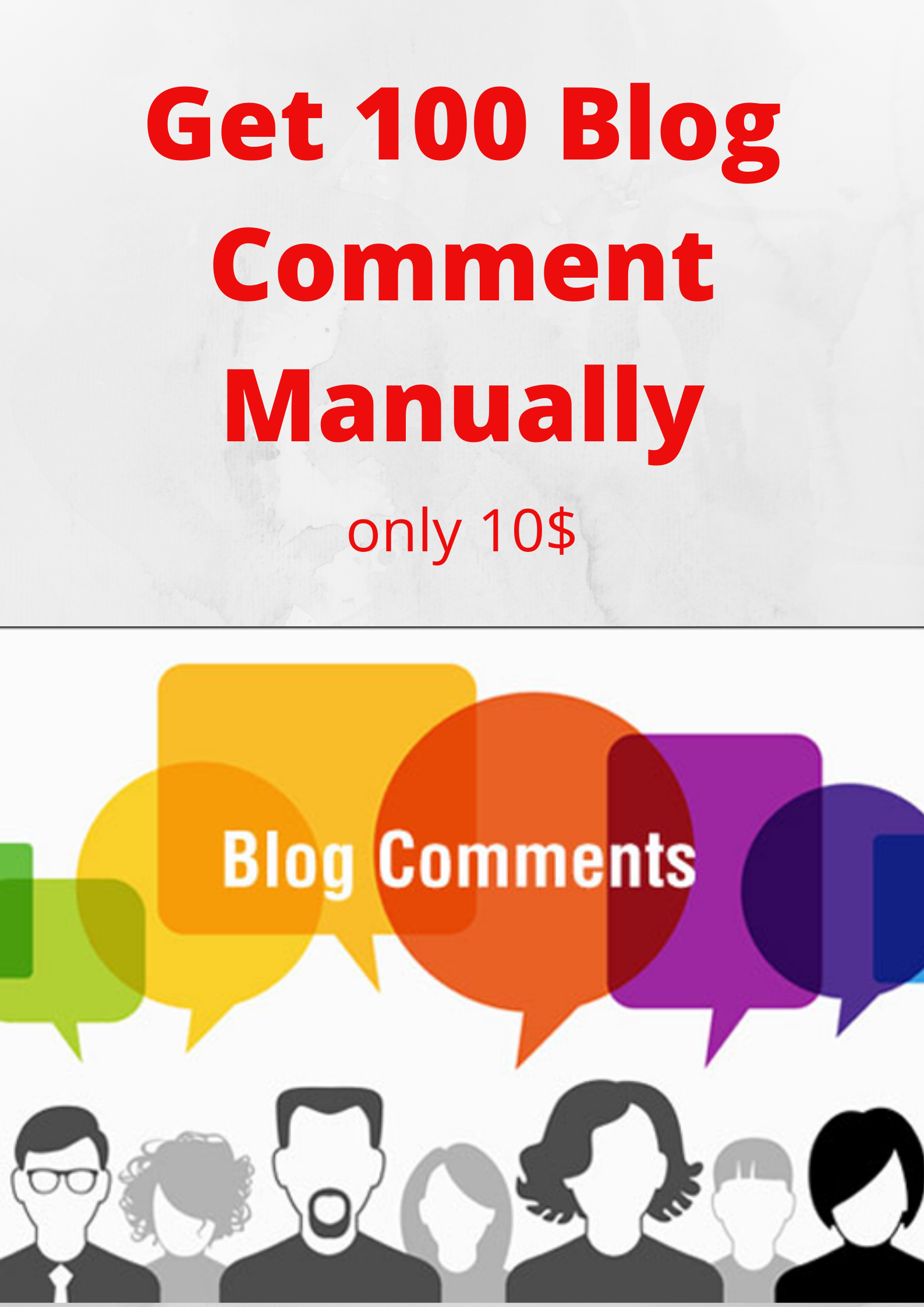 Get 100 Blog Comment Manually.