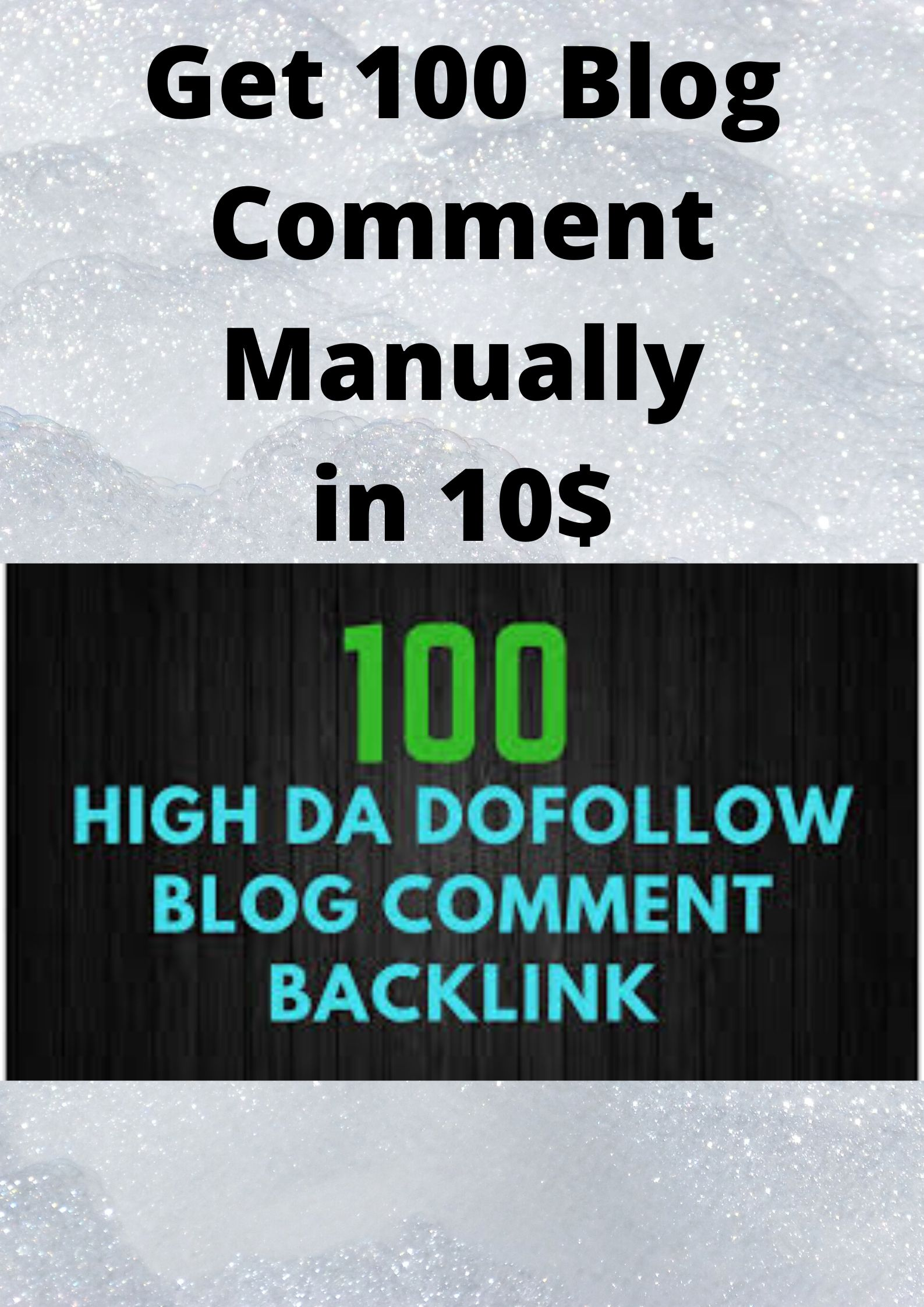 Get 100 Blog Comment Manually in 10 days