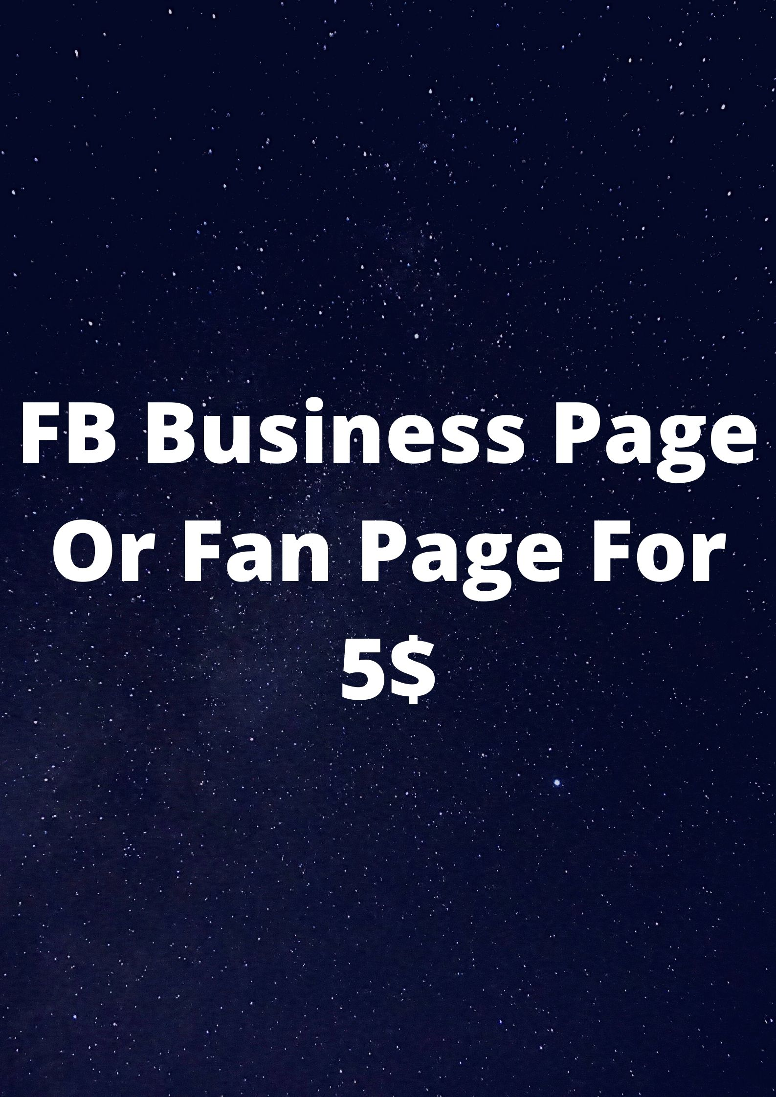 I will generate a FB page for your business