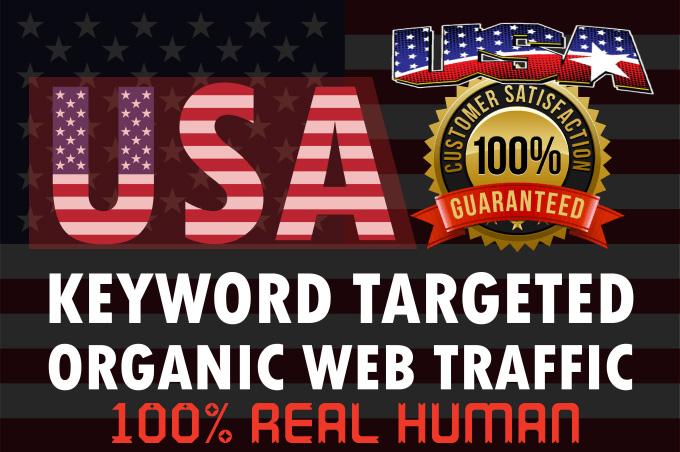 I will drive niche targeted real organic USA web traffic long visit 2 min