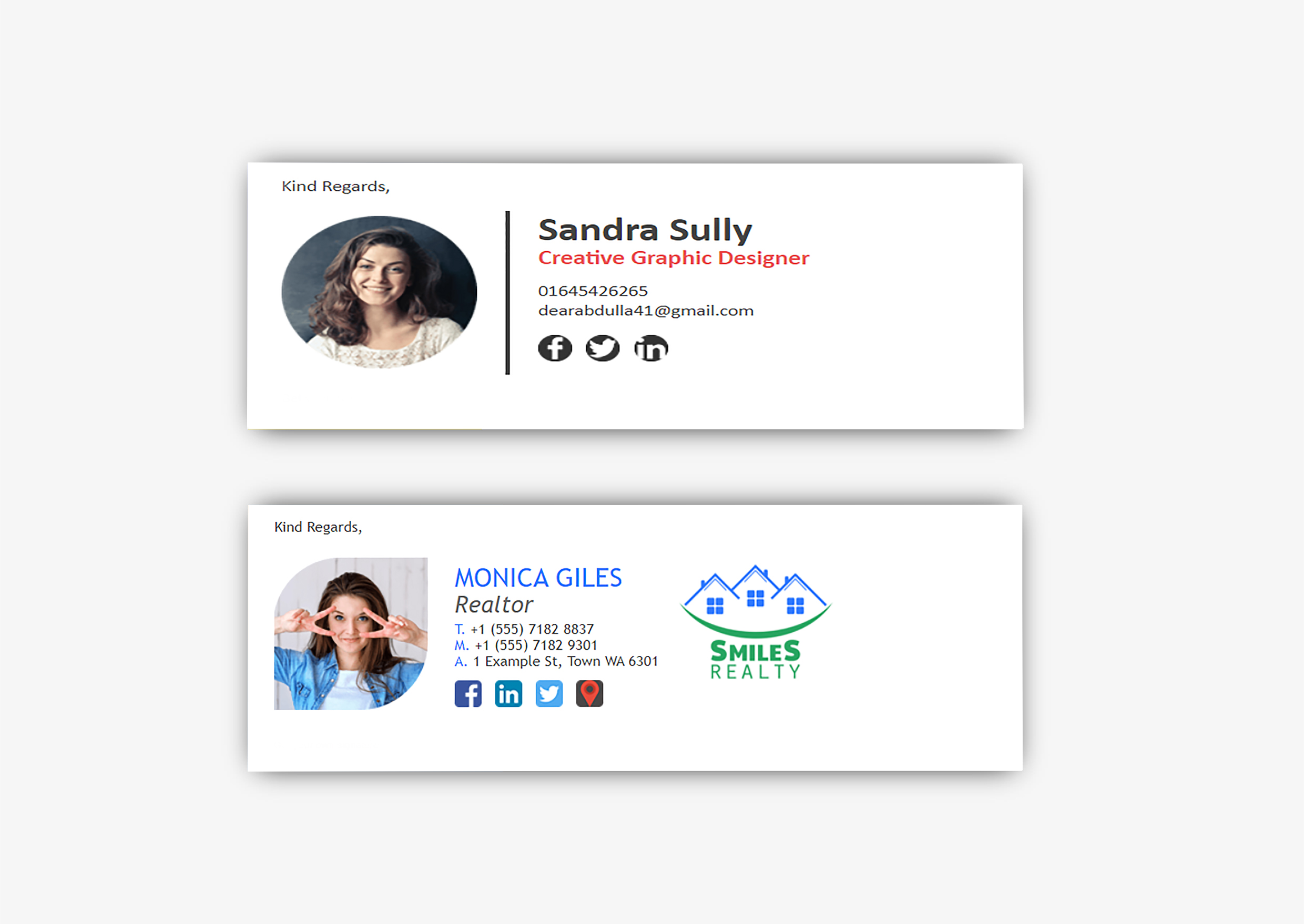 I will created clickable HTML email Signature