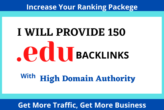 I will provide 150 edu backlinks with high domain authority