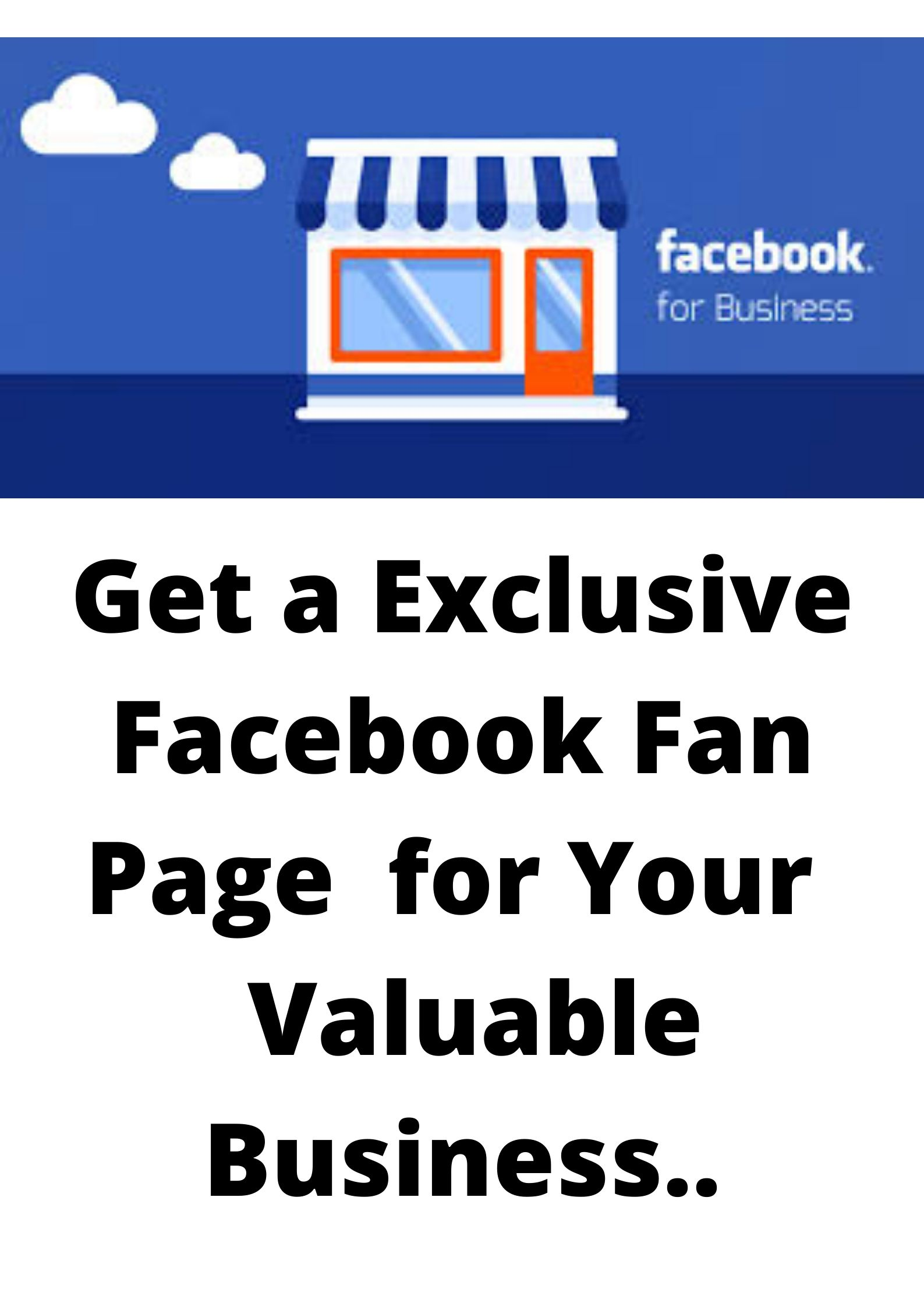 Get A Exclusive,  Ordinary And Helpful Business Page Or Page