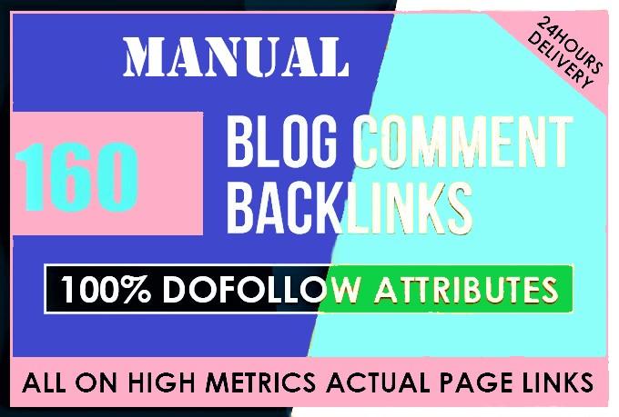 160 manual blog comment backlinks for 7